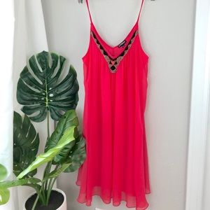 Coral beaded express dress